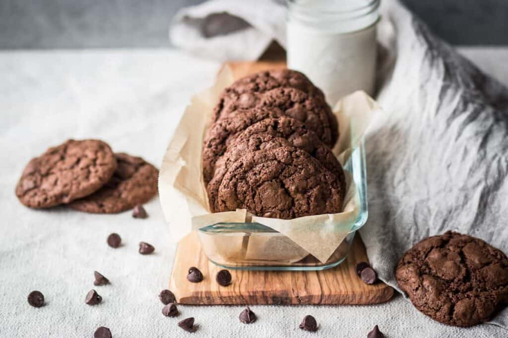 gluten free double chocolate cookies make an amazing gluten free free chocolate dessert option
