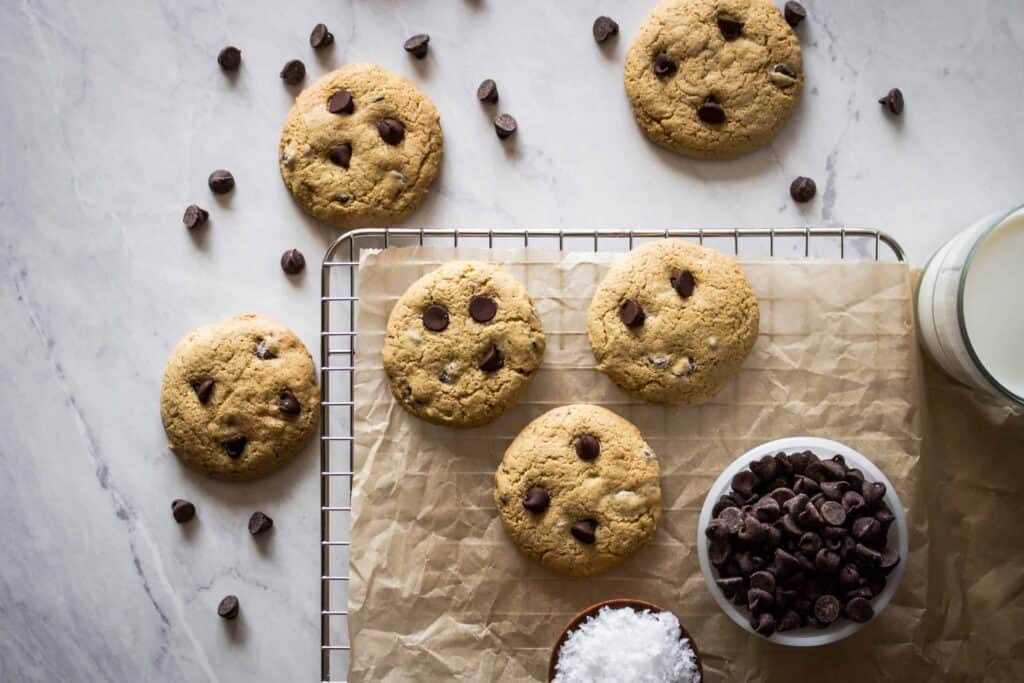 gluten free chocolate chip cookies are a classic way to serve a gluten free chocolate dessert