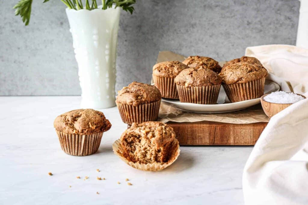 a plate of gluten free muffins