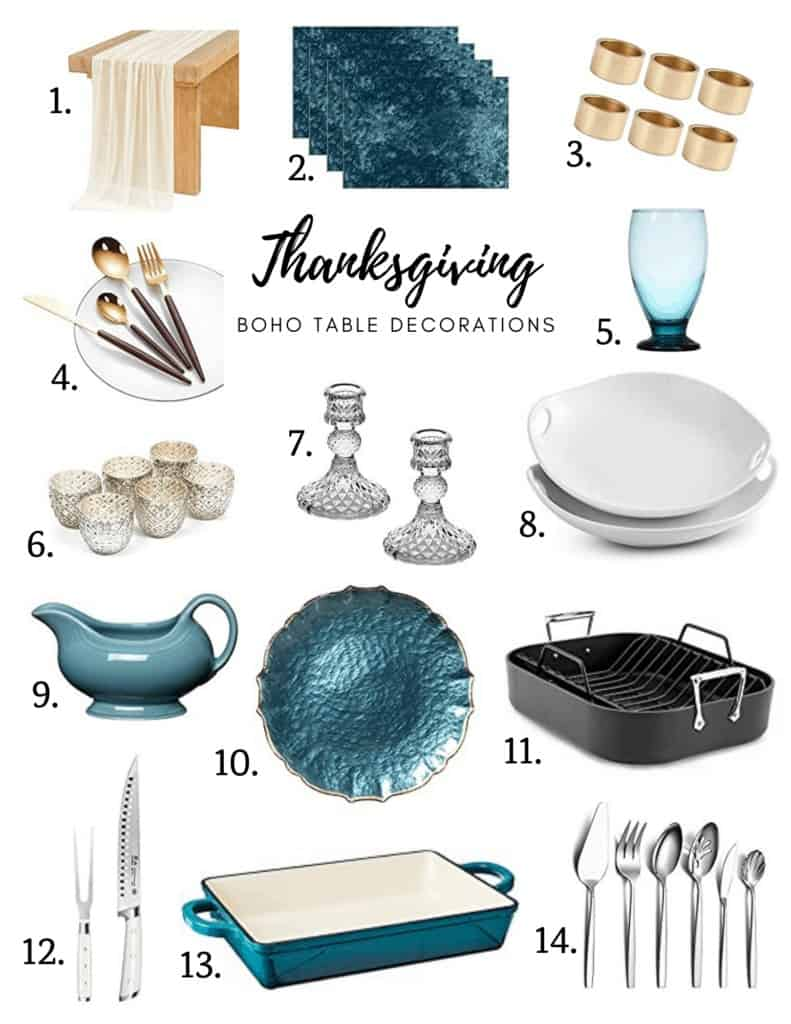 Boho decoration ideas for a Thanksgiving table