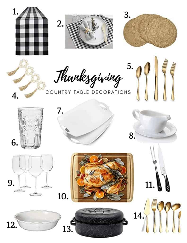 Country table decoration ideas for Thanksgiving