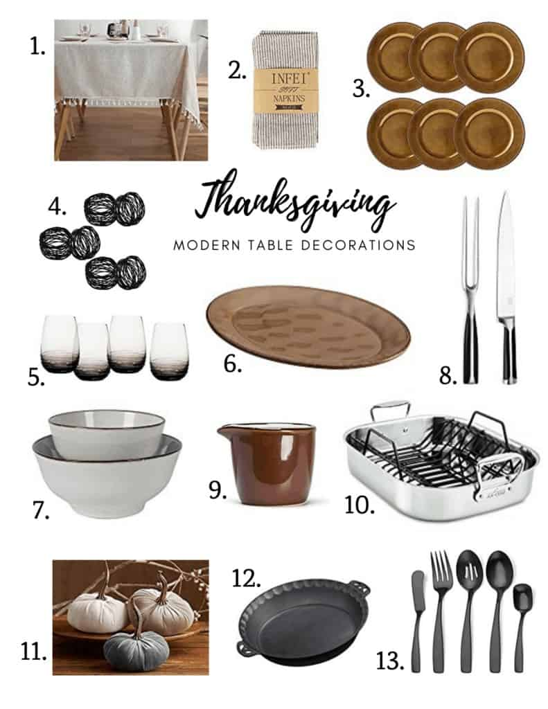 Modern table decoration ideas for Thanksgiving