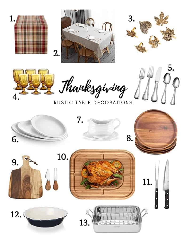 Rustic table decoration ideas for Thanksgiving