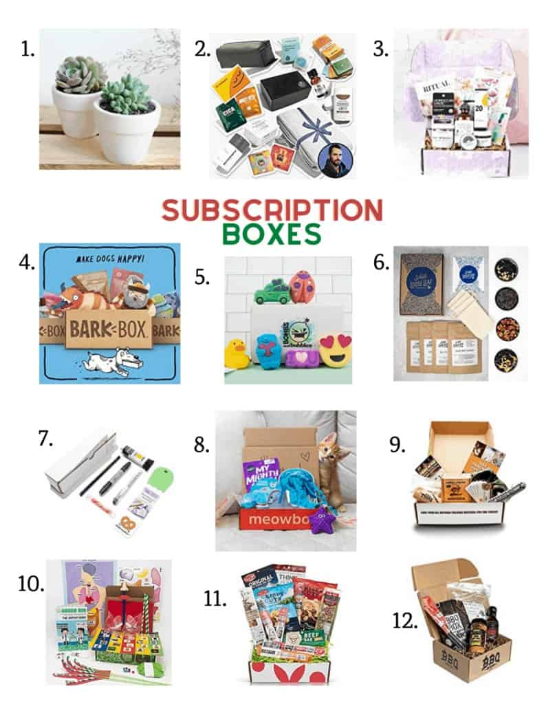 the perfect subscription boxes to gift this holiday season