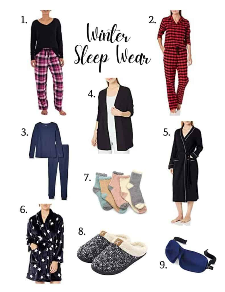 various winter sleep wear options for women's winter attire to keep you cozy