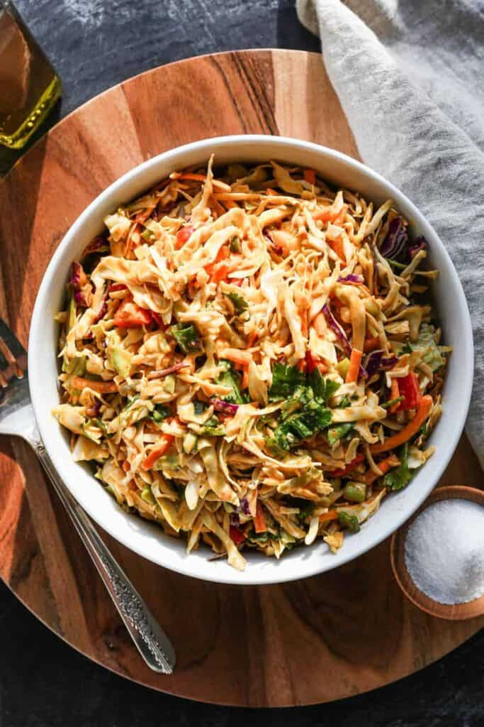 one of our favorite things for hot days is my thai style cabbage salad