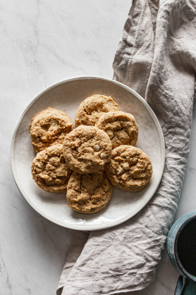 one of my favorite gluten free fall recipes are these gluten free pumpkin white chocolate cookies