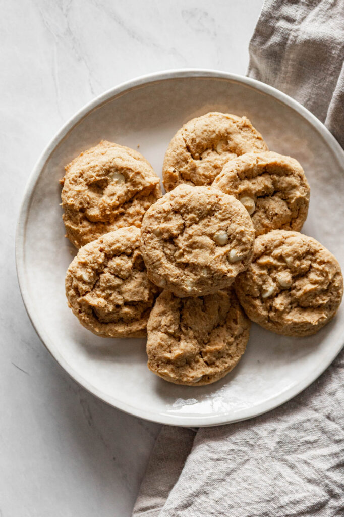 one of my gluten free pumpkin recipes is this gluten free pumpkin white chocolate cookies